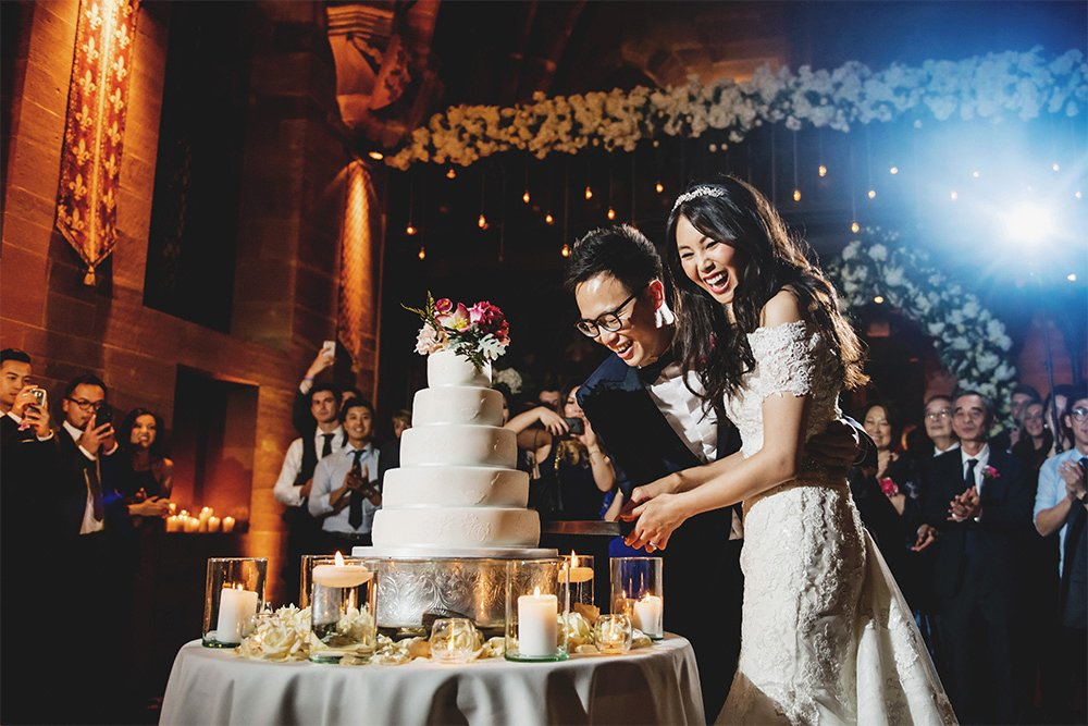 Louise And Gian Uk Cut Their Wedding Cake Image Taken By Professional Photographer Ross Harvey Using The D850 Af S Nikkor 24 70mm F 2 8g Ed