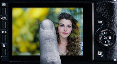 Tilt-screen touch control